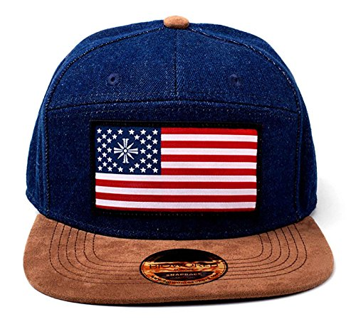 Far Cry 5 Gorra de Beisbol American Flag Logo Denim Oficial PS4 Xbox Azul