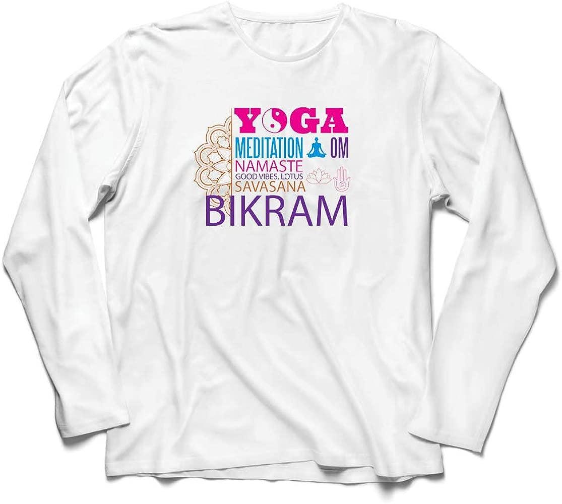 lepni.me Camiseta de Manga Larga para Hombre Yoga Meditation ...