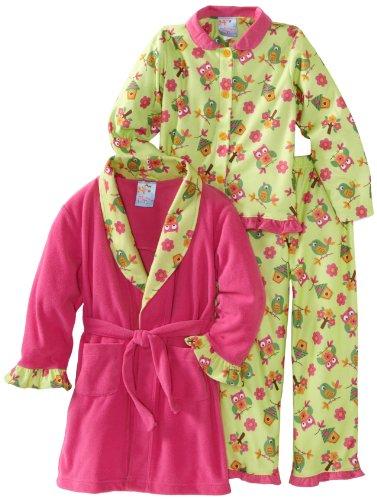 Baby Bunz Little Girls'  Birdies 3 Piece  Pajama Set