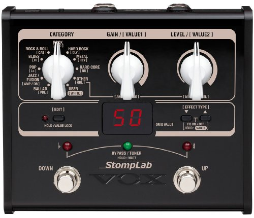 VOX StompLab 1G Multi-Effects Modeling Pedal for Guitar