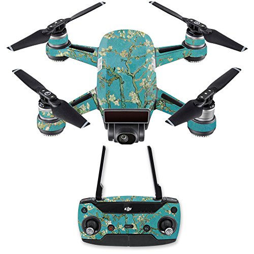 MightySkins Skin for DJI Spark Drone & Controller - Almond Blossom | Protective, Durable, and Unique Vinyl Decal wrap Cover | Easy to Apply, Remove, and Change Styles | Made in The USA