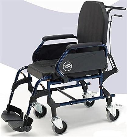 Silla de ruedas con inodoro | interior acero respaldo reclinable