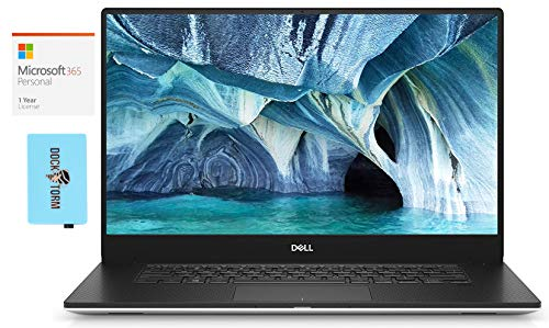 """Dell XPS 7590 Home and Entertainment Laptop (Intel i7-9750H 6-Core, 64GB RAM, 8TB PCIe SSD, NVIDIA GTX 1650, 15.6"""" 4K UHD (3840x2160), WiFi, Bluetooth, Win 10 Pro) with Microsoft 365 Personal, Hub"""
