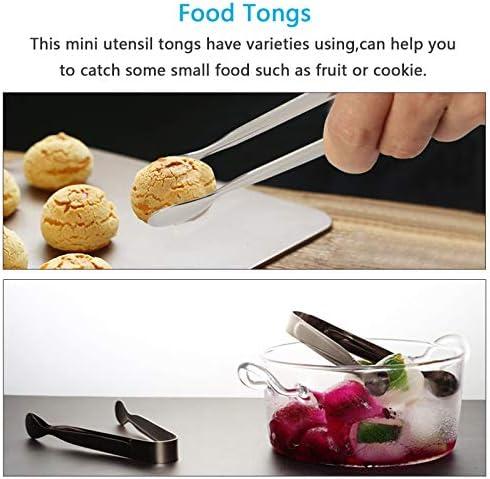 ZoomSky 6 Stück Edelstahl Zuckerzange Set, Eiswürfelzange Süßigkeiten Zange Zucker Clip Servierzange Salatzange Gebäckzange 11cm für Hochzeit Party Candy Bar Büfett Grill