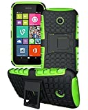 Nokia Lumia 530 - Premium Quality Shockproof Defender Plastic Hard Back Case Cover + Free Clear Screen Protector + Polishing Cloth