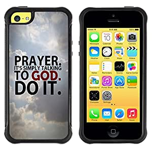 Paccase / Suave TPU GEL Caso Carcasa de Protección Funda para - BIBLE Prayer. It'S Simply Talking To God. - Apple Iphone 5C
