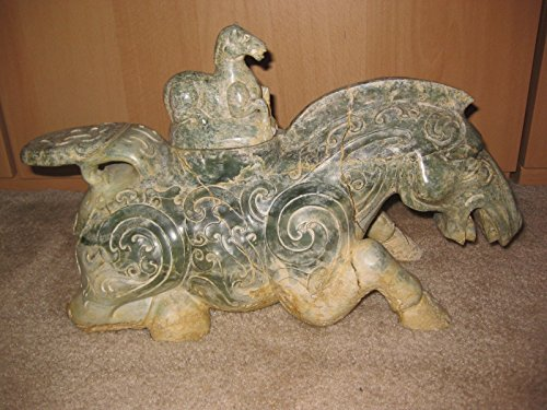 Great Antique Chinese jade horse statue, 10 kg, 39.7 cm