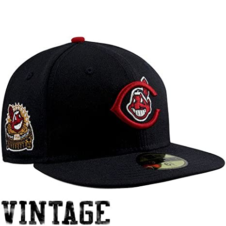 ea7747530dd MLB New Era Cleveland Indians 1954 Cooperstown All-Star Patch 59FIFTY Fitted  Hat - Black