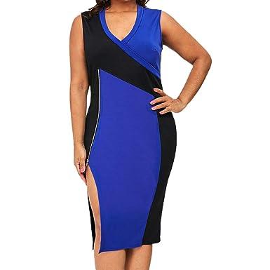 411161e4fa465 Amazon.com: justHIGH Women's Bodycon Dresses Zipper Open Fork ...