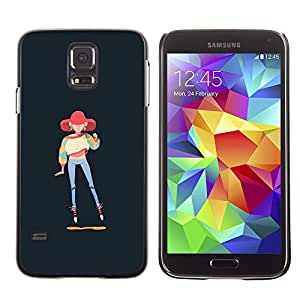 Ihec Tech 90S Estilo Moda Sudadera Chica Pintura Arte / Funda Case back Cover guard / for Samsung Galaxy S5