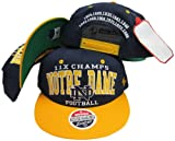 Notre Dame Fighting Irish 11X National Football Champs Adjustable Snapback Hat / Cap