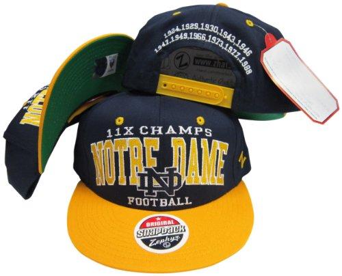 Notre Dame Fighting Irish 11X National Football Champs Adjustable Snapback ()