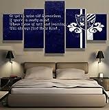 Epikkanvas Art - Ravenclaw Motivational Quote in Navy Blue Color - 5 piece Canvas