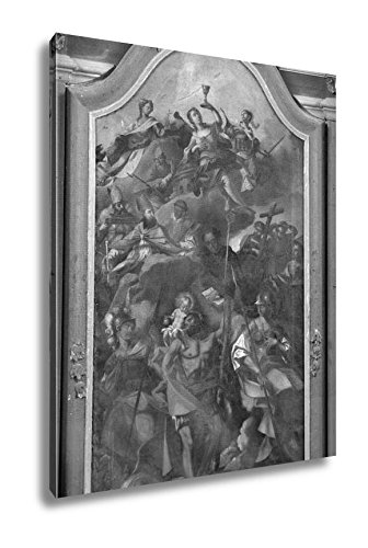 Ashley Canvas Fourteen Holy Helpers, Wall Art Home Decor, Ready to Hang, Black/White, 20x16, AG5546962 by Ashley Canvas