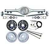 NEW CURRIE 68-74 GM X-BODY REAR END WITH 10 quot; DRUM BRAKES, BRAKE LINES, PARKING BRAKE CABLES, AX