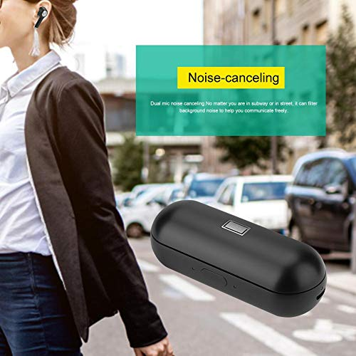 Instant Translator Device Smart Wireless Bluetooth Headset,ASHATA Waterproof 19 Language Translating Headphones Earpiece Earbuds with Dual Mic/Noise Reduction for Study Travel Busniess (Black) by ASHATA (Image #6)