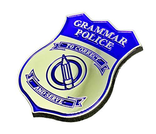 - Grammar Police Lapel Pin