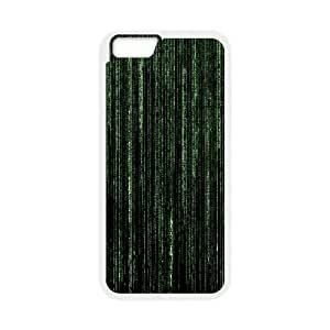 Iphone 6 Plus Case Digital Matrix by Leemarson for White Iphone 6 Plus (5.5)inch Screen lmar607853