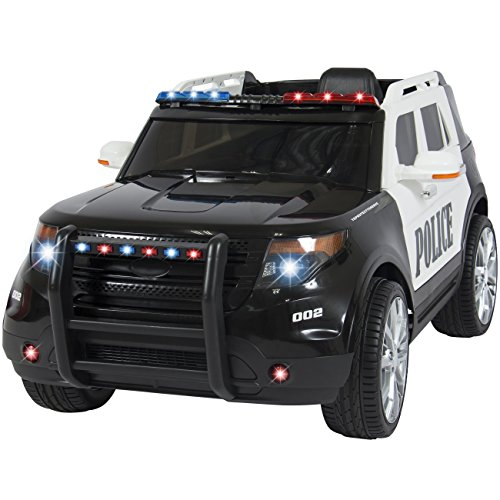Buy Cheap Best Choice Products Ford Style 12V Ride On Car Police Car W/ Remote Control, 2 Speeds, LE...