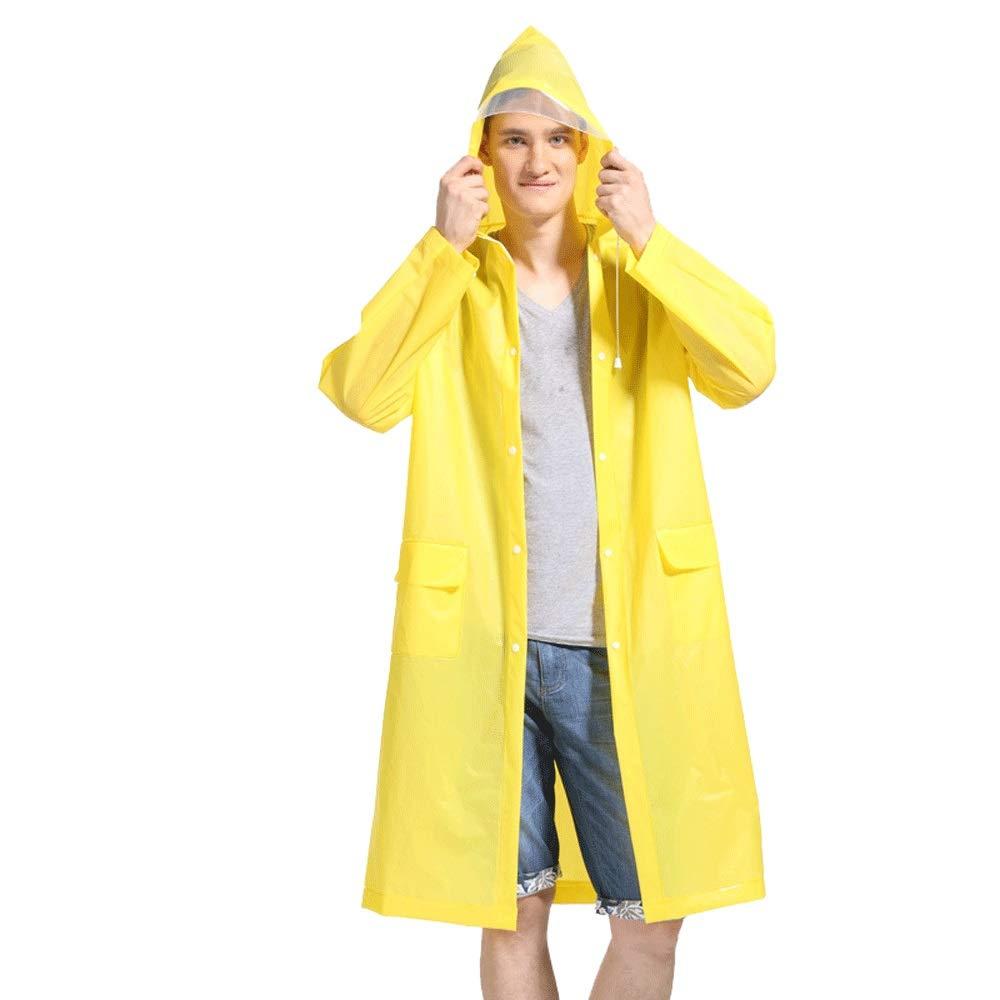 para Acampar//Viajar//monta/ñismo AZZChubasquero Impermeable transl/úcido Impermeable Rain Poncho Ropa Impermeable Universal para Adultos con Mangas