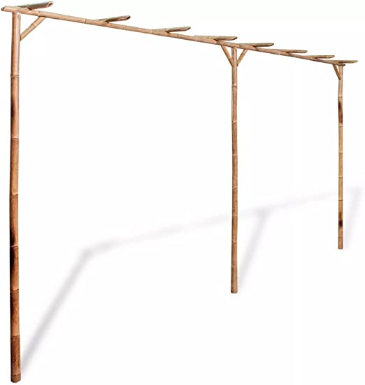 honglianghongshang Pérgola de bambú 385x40x205 cm Casa y jardín Jardín Artículos de Exterior Estructuras de Exteriores Pérgolas, Arcos y enrejados de jardín: Amazon.es: Hogar