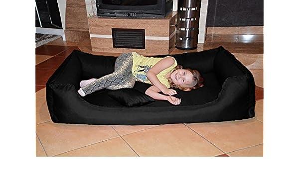 tierlando Articulos ortopedicos Cama para perro DONALD Orto VISCO Anti-pelo 150cm XXL Negro colchón Visco: Amazon.es: Productos para mascotas