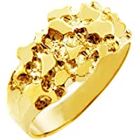 Nugget Rings Men's 14k Gold The Knight