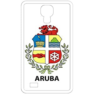 Aruba - Country Coat Of Arms Flag Emblem White Samsung Galaxy S4 i9500 Cell Phone Case - Cover