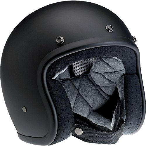Biltwell Bonanza Half Helmet (Flat Black, Small) (Best Cafe Racer Helmet)