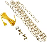 7048000 12-Foot Swag Kit, Polished Brass Finish