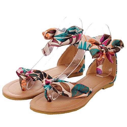 Blu Donna Infradito Sandalo Sandali In Summer Pizzo Beach Ye Abito Carino Da Piatto ZUxwZ7qR