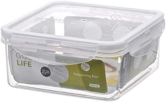 Necesidades diarias Caja de preservación Plástico Nuevo Caja de sellado transparente Alimentos for el hogar Fruta Caja de suplemento de alimentos Caja rectangular Refrigerador Caja de almacenamiento e: Amazon.es: Hogar
