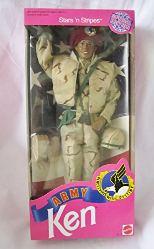 Army Ken Stars 'n Stripes African American (Barbie Stars N Stripes)