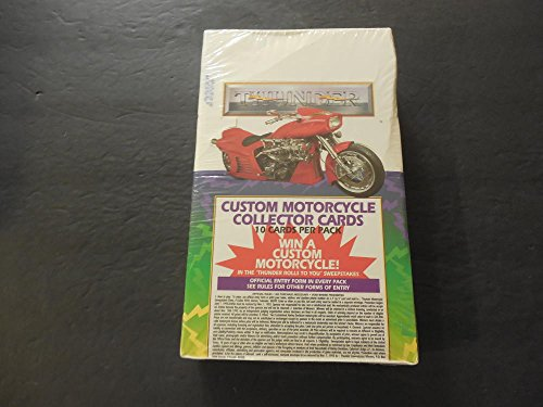 Sealed Box Of Custom Motorcycle Collector Cards 1993 36 Packs