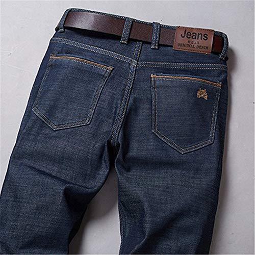 Chlyuan Jeans de Hombre Pantalones Vaqueros de Invierno más ...