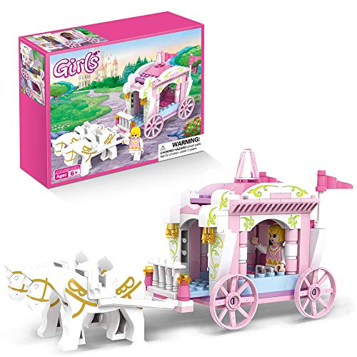 Girls Princess Carriage Building Set Princess Castle Fairy Tales Decoration Creative Birthday Gifts for Kids Age 6…