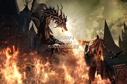 CGC Huge Poster - Dark Souls III Dragon PS4 XBox One - DSS02