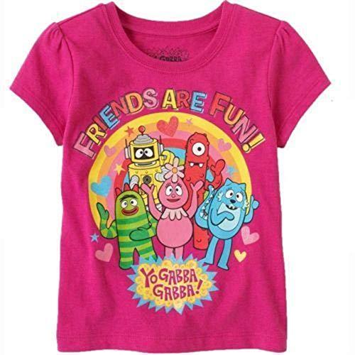 Yo Gabba Gabba Nickelodeon Toddler Girl Short Sleeve