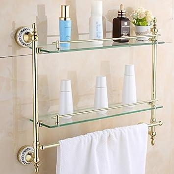SYDLJ Espacio de baño aluminio colgar toallas de baño marcadas: Amazon.es: Hogar