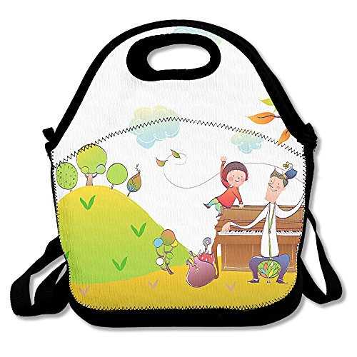 DABA Handsome Boy Personalized Lunch Bags For Adults Kids Lu