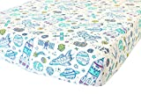 100% Organic Cotton Fitted Crib Sheet by...