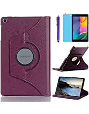 Case for Samsung Galaxy Tab A 8.0 inch 2019 (SM-T290 SM-T295 SM-T297) - 360 Degree Rotating Stand Case Full Protective Cover,with Stylus Pen,Screen Film (Purple)
