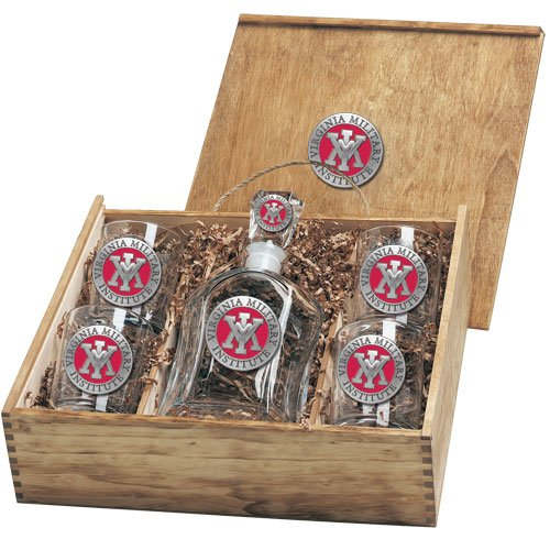 Virginia Military Institute Capitol Decanter Box Set by Heritage Pewter