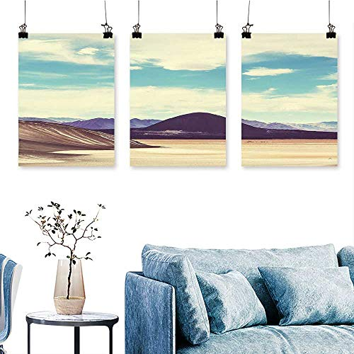 (SCOCICI1588 3-Piece Triptych Northern Brazilian Plateau Wanderlust Serene in Abandoned Rocks Paint ES for Wall Decor Home Decoration No Frame 16 INCH X 40 INCH X 3PCS)