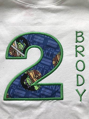 Ninja Turtle Embroidered Birthday Shirt Any Age]()