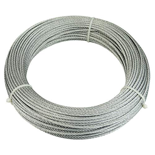 (Muzata Galvanized Steel Wire Rope 1/8