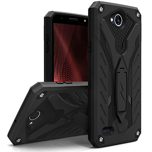 new product a0d43 e12a8 Zizo Static Series Compatible with LG X Charge Case Military Grade Drop  Tested with Built in Kickstand LG X Power 2 LV7 Case Black