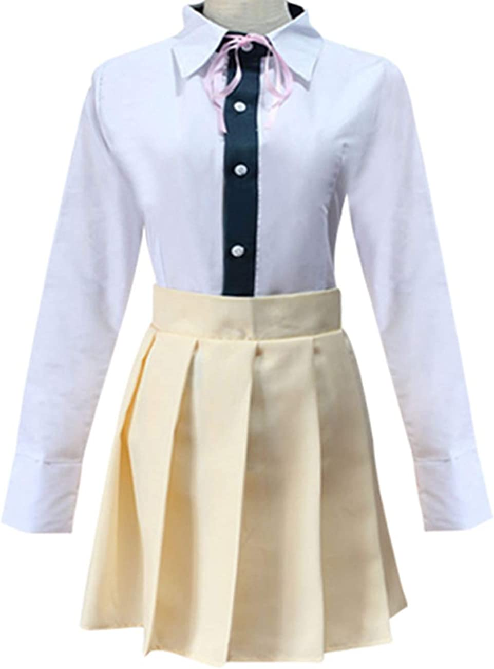 Tinyones Chiaki Nanami Cosplay Outfit High School Uniform Halloween Costume