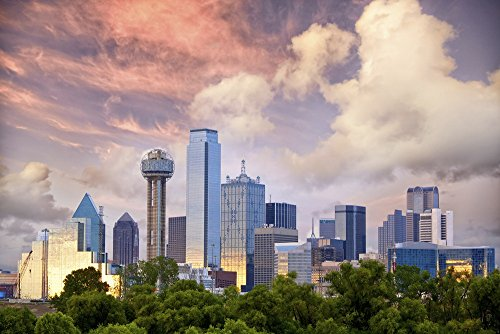 Dallas Landscape Cityscape Photography Giclee High Glossy Photo Paper Print - Airport Dallas Locations
