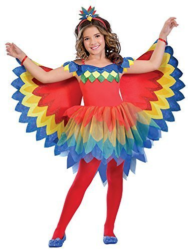 Girls Pretty Parrot Fairy Colourful Carnival Animal